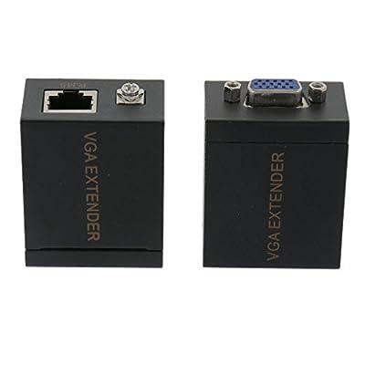 Sharplace 60m VGA à Extensions De Signal RJ45 Émetteur Récepteur Cable Ethernet VGA Convertisseur par Sharplace