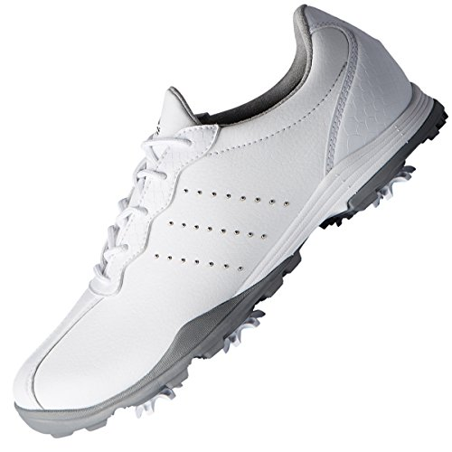 adidas W Adipure DC, Scarpe da Golf Donna, Bianco (White F33616), 37 1/3 EU