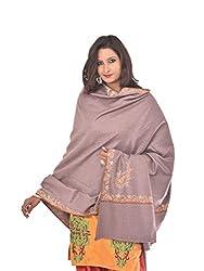 Weavers Villa - Women's Kashmiri Embroided Grey Woolen Shawls , Stoles
