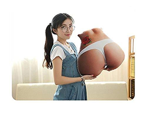 WanJiaMen'Shop Sexy Body Pillow Ass Kissen Persönlichkeit kreative Paar Geschenk Rückenkissen Kissen, Weiß (Sexy Bettwäsche)