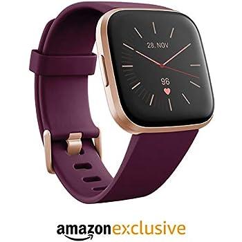 Fitbit Versa 2 Health & Fitness Smartwatch with Voice Control, Sleep Score & Music, Bordeaux