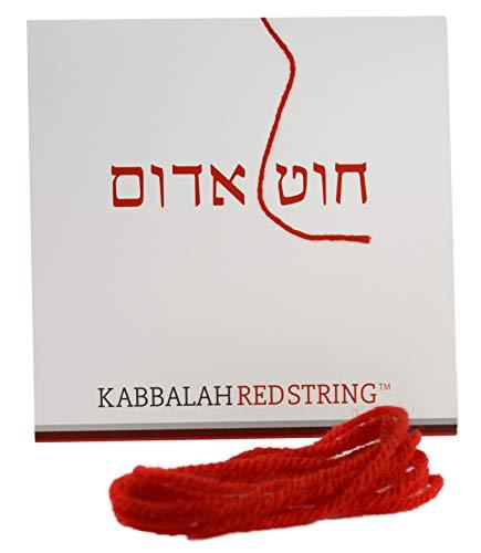 La stringa di kabbalah originale da israele pacchetto di bracciale di kabbalah rosso string - corda rossa da 150 cm per un massimo di seven braccialetti anti-malocchio - istruzioni incluse!