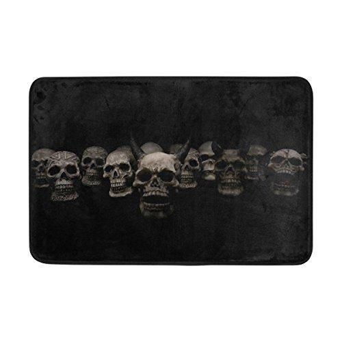 (BENNIGIRY Halloween Sugar Skull Muster die Sauberlaufmatten, Entry Way Indoor Outdoor Tür Teppich mit Rutschfeste Unterseite, (23,6von 39,9cm))