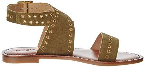 Inuovo - 7329, Laccetto alla caviglia Donna Verde oliva