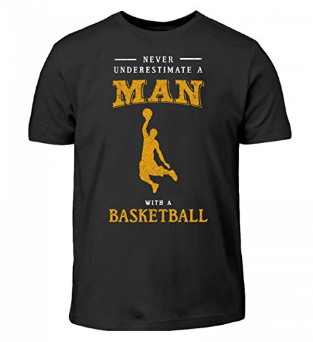r Underestimate Man | Basketball Team Korb Ball-Sport Mannschaft Hobby - Kinder T-Shirt ()