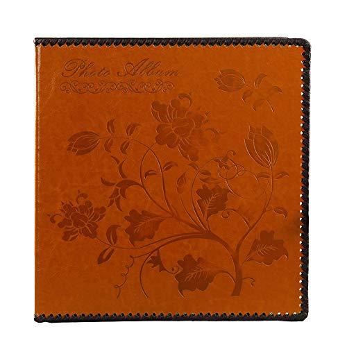elbstklebend, extra groß, magnetisch, Selbstklebende Seiten, mit Ledereinband, handgefertigte DIY Alben, für 3 x 5, 4 x 6, 5 x 7, 6 x 8, 8 x 10 Fotos, Scrapbook Album ()