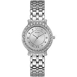 696cb354dca2 Guess Reloj Analógico para Mujer de Cuarzo con Correa en Acero Inoxidable  W1062L1