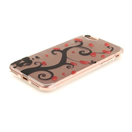 iPhone 7 Hülle,iPhone 7 Hülle Case,iPhone 7 Silikon Hülle [Kratzfeste, Scratch-Resistant], Cozy Hut iPhone 7 (4,7 Zoll) Hülle TPU Case Schutzhülle Silikon Crystal Kirstall Clear Case Durchsichtig, Far paar unter dem Baum