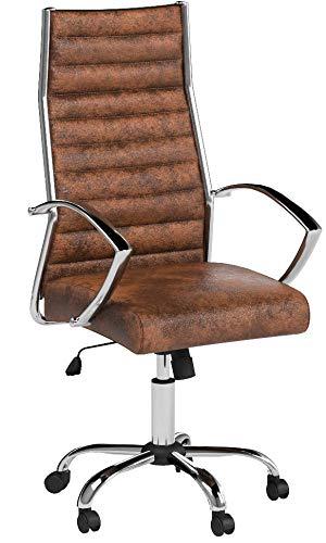 Invicta Interior Design Bürostuhl Chefsessel Big Deal antik Coffee Stuhl Büro Bürosessel