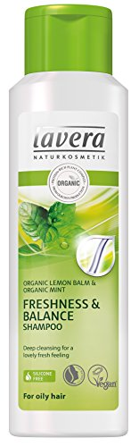 Lavera Hair Frische & Balance Shampoo ∙ Organic Lemon ∙ fettiges Haar ∙ Vegan Organic Hair Care Natural Cosmetics 250ml -