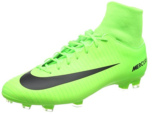 Nike Mercurial Victory Vi Df Fg, Chaussures de Football Entrainement homme - Vert (Electric Green/flash Lime/white/black), 42.5 EU(9 US)