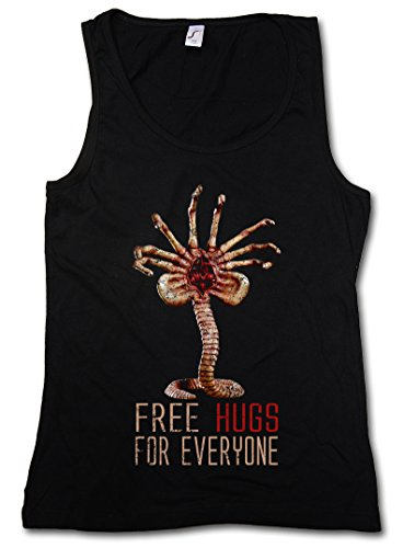 FREE HUGS FOR EVERYONE DONNA TOP - Facehugger Xénomorphes Promethues Ripley Yutani Weyland Fun Alien DONNA TOP Taglie S - XL