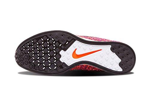 Nike Donna W  AF1 Flyknit scarpe sportive BLACK/BLACK-HYPER ORANGE-VIVID PURPLE