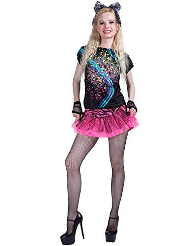 (Fancy Karneval Kostüme: Female Cosplay Outfit: Mädchen Party Kostüme: Mode der 1980er Jahre: Pink Lady und Pop Girl)