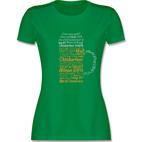 Shirtracer Oktoberfest Damen - Oktoberfest Maß - Damen T-Shirt Rundhals Grün