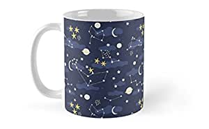Shopsmeade Cosmos And Stars Mug | Gifts for Boyfriend Girlfriend Fiance Spouse Friends Him Her Men Girl Birthday Anniversary Everyday Gift Mug | Unique Design Mug