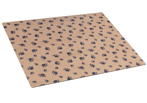 Artikelbild: Drymate Cat Litter Box Mat with Paw Imprint Design, 20-Inch by 28-Inch, Tan by Drymate