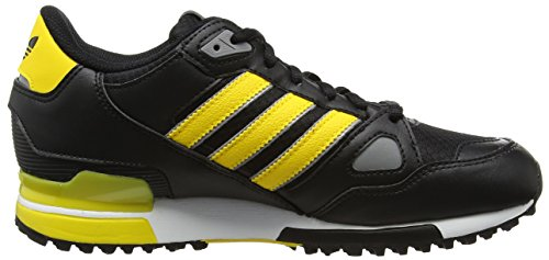 adidas Herren Zx 750 Sneakers Schwarz (Core Black/Eqt Yellow S16/Ch Solid Grey)