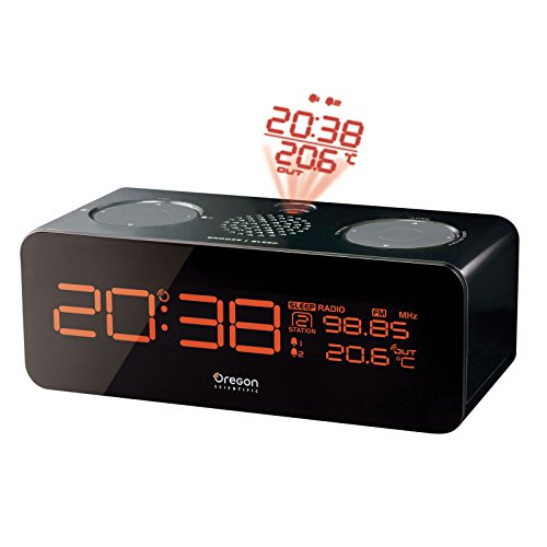 Oregon Scientific Projector Alarm Clock Reloj proyector, Negro