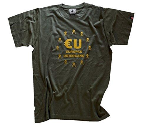 EU Europas Untergang Ja zu Europa Nein zu Dieser EU Diktatur T-Shirt Olive XL