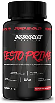 Bigmuscles Nutrition Testo Prime Testosterone Booster Supplement 60 Tablets | Natural Stamina Booster | Fast-A