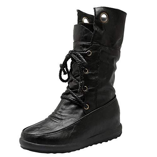 91bc03424628 FeiBeauty Damen Runde Zehenschuhe Überqueren Sie Warme Stiefel Kurze Plüsch Damenschuhe  Stiefel.