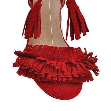 LvYuan Da donna-Sandali-Ufficio e lavoro Formale Serata e festa-Comoda Innovativo Club Shoes-A stiletto-Felpato-Nero Rosa Rosso Beige Red