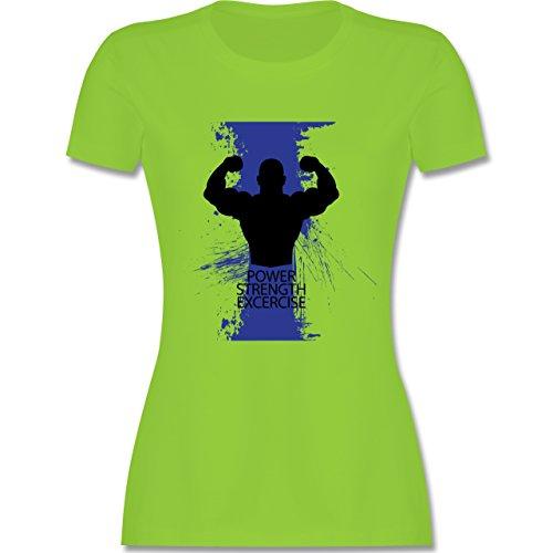CrossFit & Workout - Power Strength Exercise - tailliertes Premium T-Shirt mit Rundhalsausschnitt für Damen Hellgrün