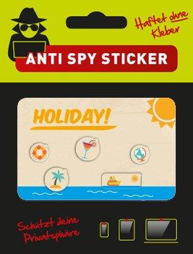 "Preisvergleich Produktbild CaMblock - Webcam Cover, OHNE Klebstoff, 5er Set Typ ""Holiday"", Webcam Abdeckung, Webcam Sticker"