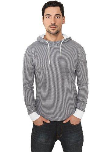 Urban Classics Stripe Jersey Hoodie Hooded-Longsleeve schwarz/weiß navy-white