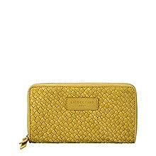 Liebeskind Berlin Santa Fe-Gigi Wallet Large, Accessoire de Voyage - Portefeuille Femme, Vert (Golden Olive), 2x10x20 Centimeters (B x H x T)