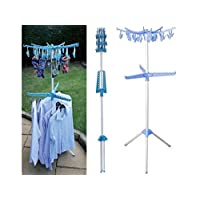 Multipurpose Airer Portable Clothes Hanger Drier Indoor Outdoor Folding Free Standing