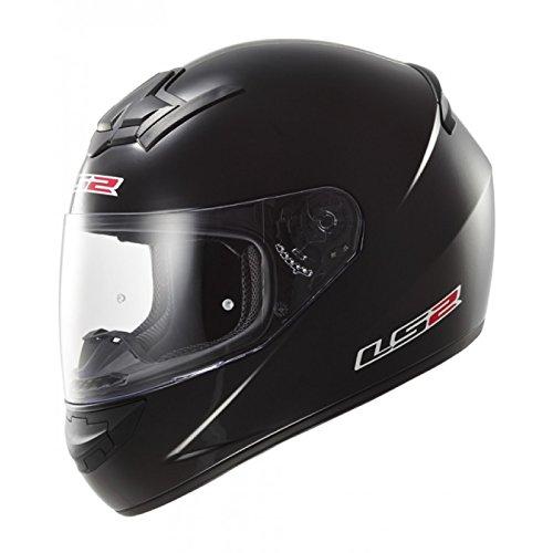Casco Moto LS2 FF352 SOLID Motociclo Full Face Casco Integrali Touring Scooter Casco da corsa (M, Nero Opaco)