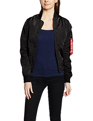 Alpha Industries Damen Bomberjacke Ma-1 TT, Schwarz (Black 03), Small