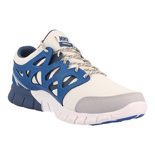 Nike Free Run 2, Scarpe sportive, Uomo White/Wolf grey/Military blue