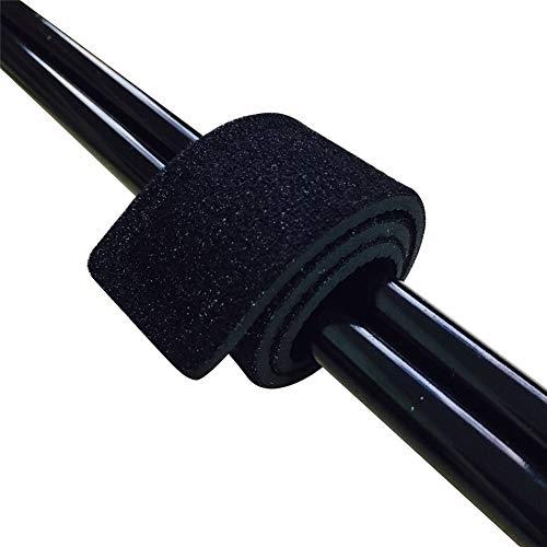 RENNICOCO 2 STÜCKE Angelrute Gürtel Krawatten Stretchy Magic Bait Casting Spinning Rod Gurte Halter Angelgerät Krawatte Tasche Zubehör -