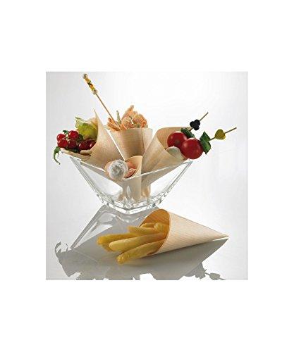 50Kegel Kiefer Höhe 19,5cm Crown Chef Fried Snacks Behälter Umweltfreundliche Einweg Finger Food 100% biologisch abbaubar Ø 8