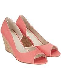 Monsoon Chaussures à talon à semelle compensée ouvertes sur le devant Paula - Femme