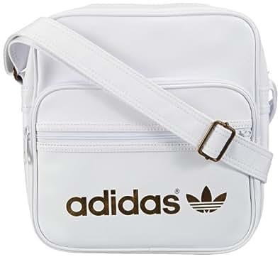 adidas Damen Schultertasche Adicolor Sir, white/metallic gold, 28 x 11 x 30 cm, 8.3 liters, W68804, 1.00 euro/100 ml