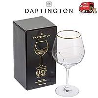Dartington Glitz Gold Gin Copa Single Glass Swarovski Crystals Gift Box 21cm 610ml