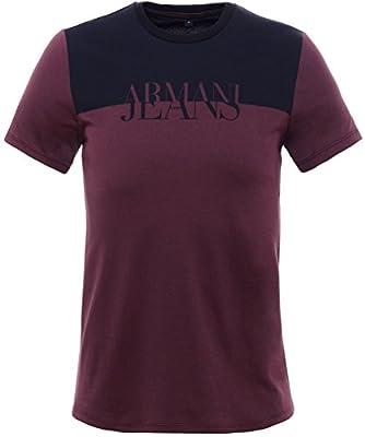 Armani Jeans Men's Colour Block T-Shirt Red