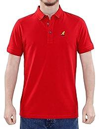 Nouveaux hommes Kangol Pattern Collar Design 100% coton Pique Polo Summer T Shirt