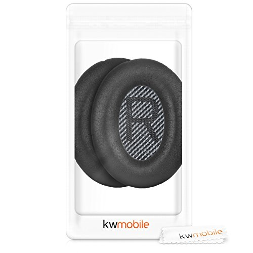 kwmobile 2X Ohrpolster für Bose Quietcomfort Kopfhörer - Kunstleder Ersatz Ohr Polster für Bose Overear Headphones - 7
