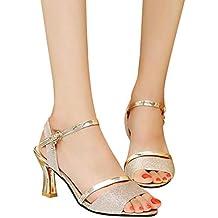 Zapatos para Mujer, RETUROM 2018 Sandalias de Lentejuelas de Mujer Zapatos de Fiesta de Bloque