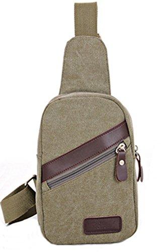 lemongirl Sling Brust Tasche für Herren Damen, Unisex Schulter Umhängetasche Rucksack für Reisen Wandern Camping Radfahren Mini Adult Handtasche Rucksack One Size grün (Butterfly Gesteppte Rucksack)