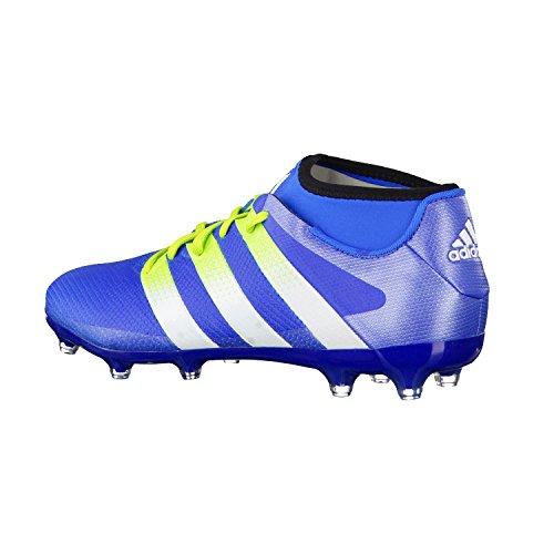 adidas Ace 16.2 Primemesh Fg/Ag, Chaussures de Football Homme Multicolore - Azul / Blanco / Verde (Azuimp / Ftwbla / Seliso)