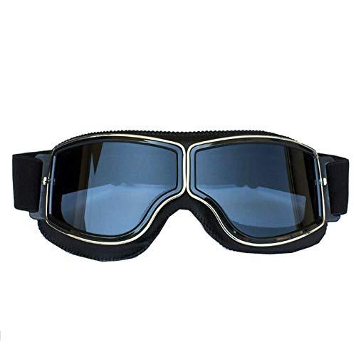 e Retro Arbeitsbrille für Brillenträger Sport Brille Winddicht Schwarz Grau ()