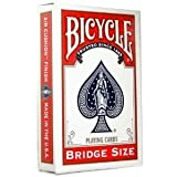 Bicycle Bridge Size, Standard Haftstreifen Playing Cards (Red) by U.S. Playing Card Co. TOY (English Manual)