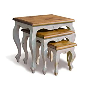 French Provence style Painted Nest of Tables
