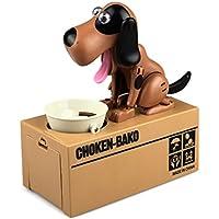 joyliveCY Cute Puppy Hungry Essen Dog Münze Bank Spardose, Brown+black preisvergleich bei kinderzimmerdekopreise.eu